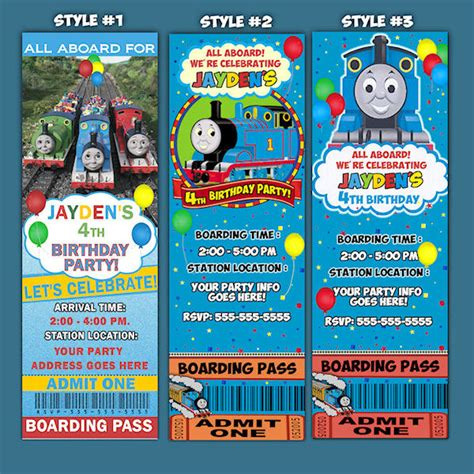 thomas the train birthday invitations template best