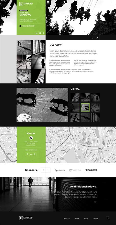 themes for computer exhibition exhibition art gallery museum psd landing page by