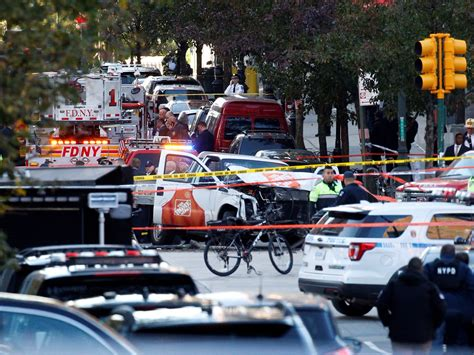 truck in ny photos how the york truck attack unfolded
