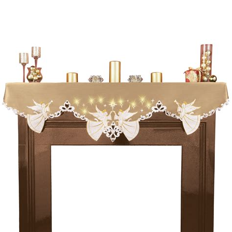 lighted mantel scarf by collections etc