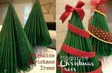 arboles de navidad hechos con revistas arboles navide 241 os con revistas recicladas papel reciclado revistas recicladas