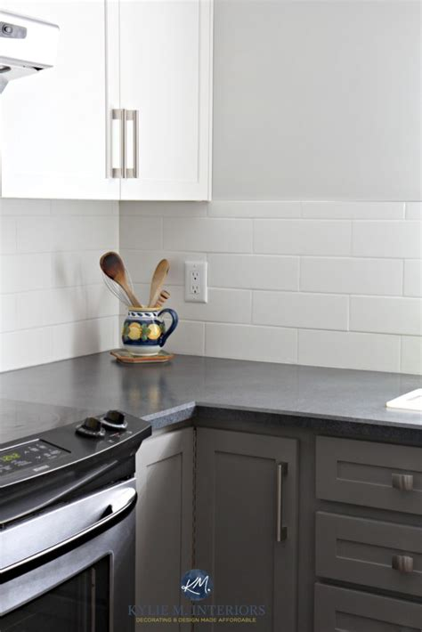 grey laminate countertops white cabinets a budget friendly kitchen update white gray and gorgeous