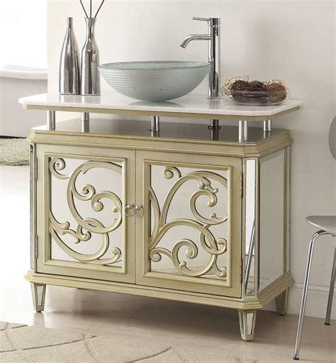 mirrored vanity cabinet adelina 38 5 inch mirrored reflection vessel sink bathroom