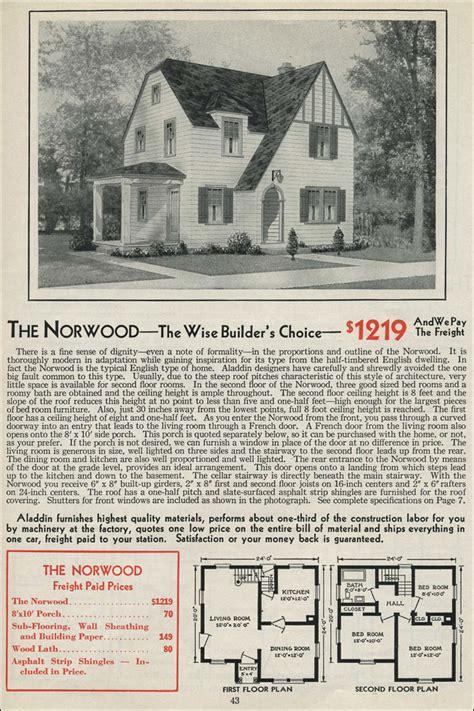 aladdin homes floor plans 1931 norwood aladdin kit house two story english