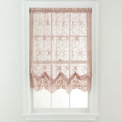Shari Lace Curtains Jcp Home Shari Lace Rod Pocket Cascade Valance