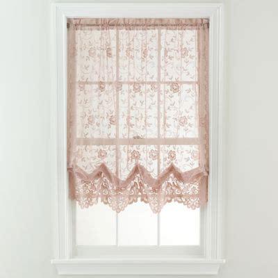 shari lace curtains jcp home shari lace rod pocket cascade valance