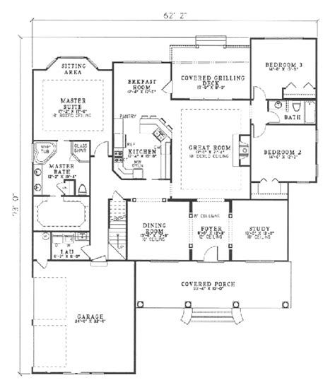 southern style floor plans country style house plan 4 beds 3 baths 2499 sq ft plan