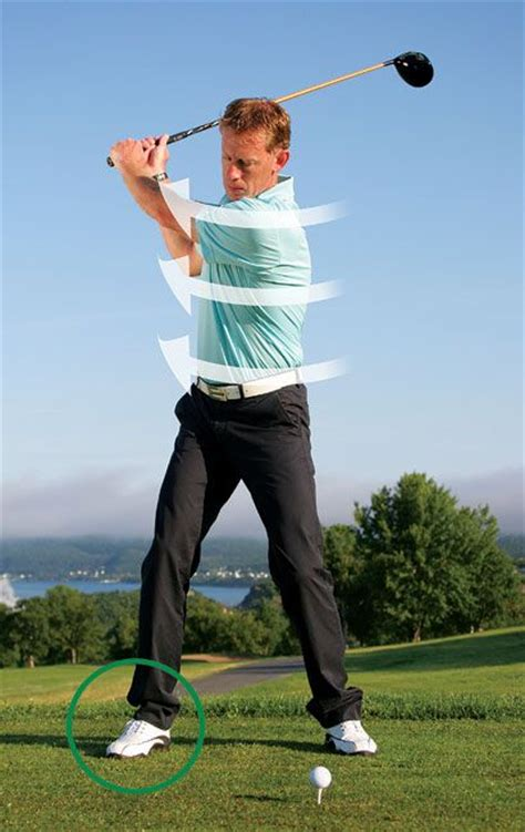 powerful golf swing turn your right foot out for a more powerful back swing