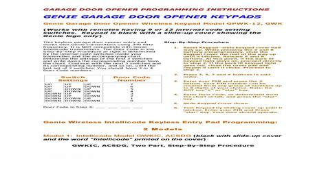 genie garage door opener reset passcode dandk organizer