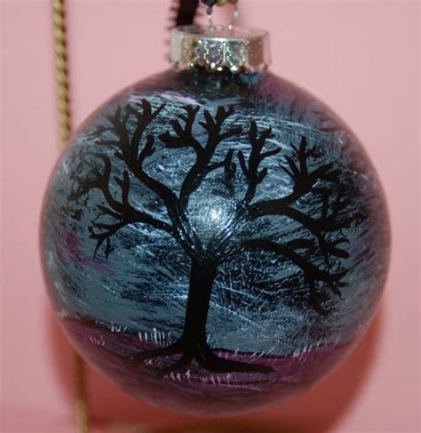 unique christmas ornaments hand painted glass ornament