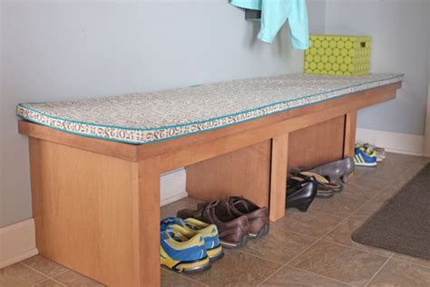 mudroom bench cushions mud room transformation school of decorating by jackie hernandez