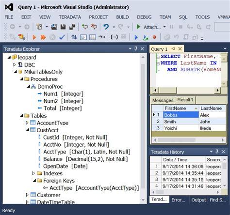 teradata developer tools