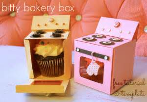 Free Cupcake Box Template by Bitty Bakery Cupcake Box Free Template