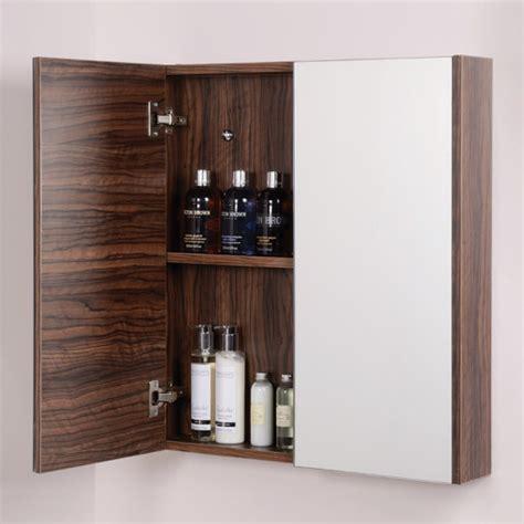 walnut mirror bathroom cabinet aspen 2 door walnut mirror cabinet 650 h 600 w 100 p