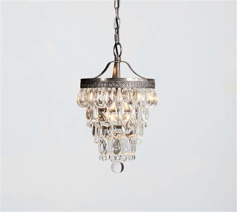 Small Glass Chandelier Clarissa Drop Small Chandelier Pottery Barn