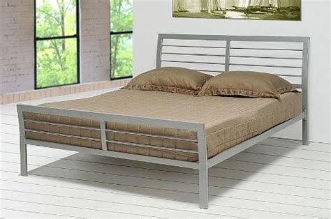 king size iron bed frames contemporary metal silver