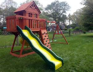 Backyard Discovery Oakmont Cedar Wooden Swing Set by Cedar Discovery Submited Images
