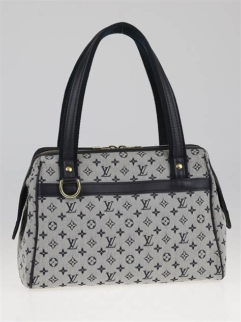 louis vuitton blue monogram mini lin canvas josephine pm