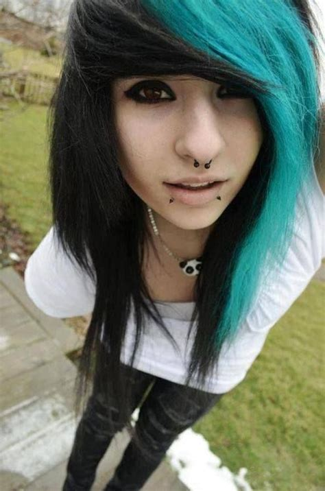 emo hairstyles and colors two color hair alyssa eats childrens oohh hey hair