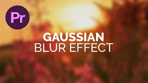 web design blur effect gaussian blur effect adobe premiere pro tutorial