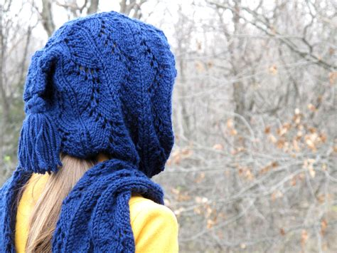 how to knit a hooded scarf stylish hooded scarf free knitting pattern