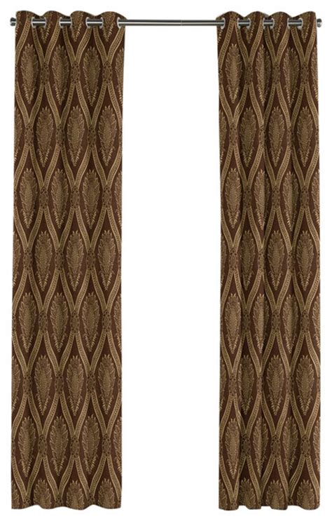 brown trellis curtains brown medallion trellis grommet curtain victorian
