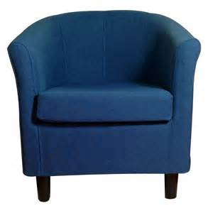 new blue upholstered tub chair home conservatory fabric
