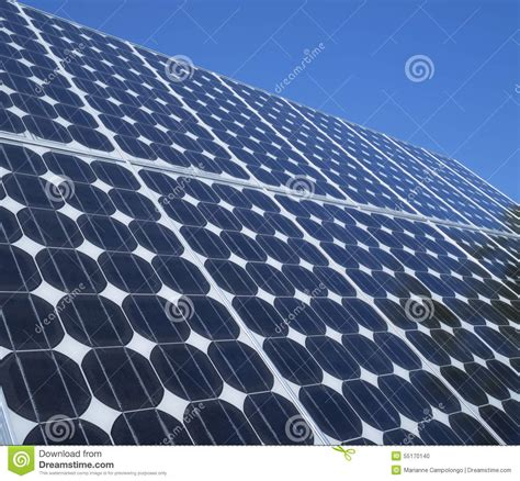 blue solar cells panel royalty free stock image