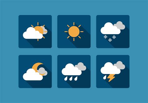 Ibon Buld vector weather icon set free vector stock