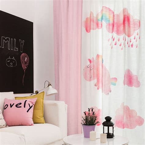 cute curtains for girls room pink cute patterned princess curtains for girls bedroom