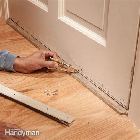 Interior Door Weather Stripping Replace Your Weather The Family Handyman