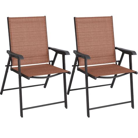 patio chair set of 2 set of 2 outdoor patio folding chairs furniture cing