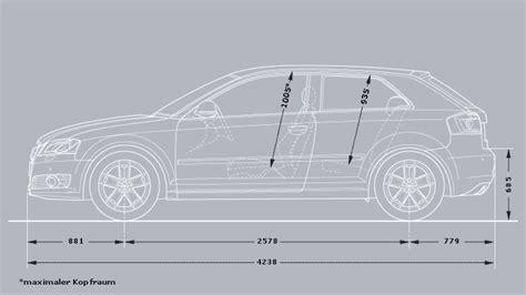 Audi A3 Sportback Abmessungen by Abmessungen Audi A3 187 Faudiq De