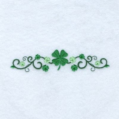 irish clover line embroidery design annthegran