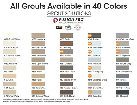 custom building products grout colors aqua mix grout colorant colors custom building products