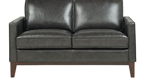 gray leather loveseat greenwich gray leather loveseat classic contemporary