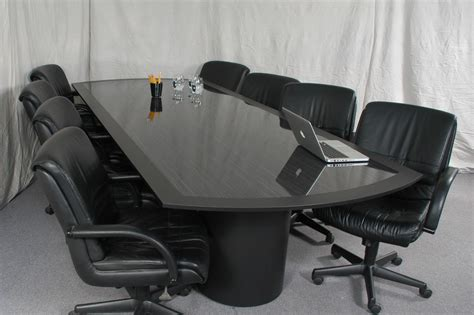 Black Boardroom Table Black Conference Table Custom Design
