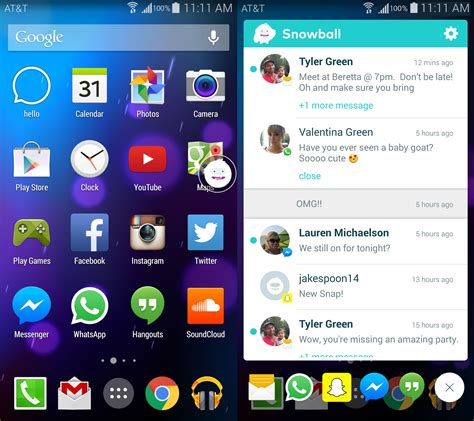 android messaging app the snowball app puts all your messages in one place
