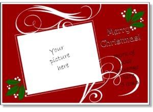 Christmas Card Templates Add Your Own Photo Printable Christmas Cards Flat Cards 5x7 Free Card Templates With Picture Insert