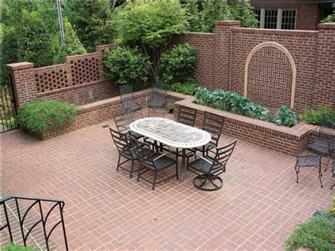 outdoor brick patio courtyard designs ideas beautiful