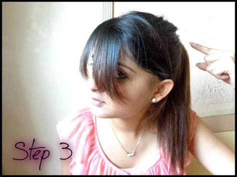 how to cut bang step by step process with picture how to cut side swept bangs at home do it yourself