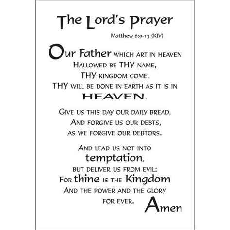 printable version of the lord s prayer 14 best images about lords prayer on pinterest library