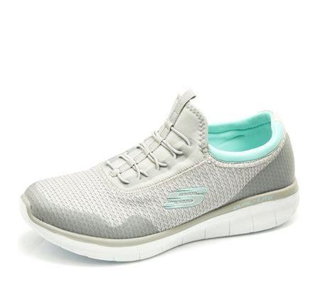 Sepatu Skechers Wanita Synergy Mirror Image skechers synergy 2 0 mirror image high apex woven mesh slip on trainer qvc uk