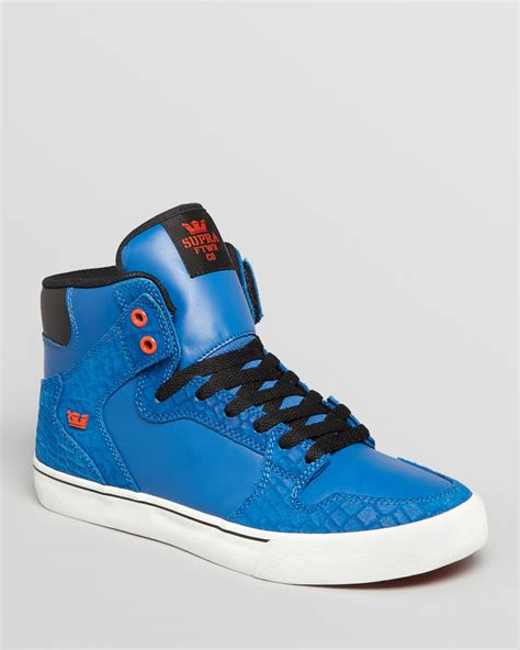 supra high top sneakers supra vaider high top sneakers in blue for royal lyst