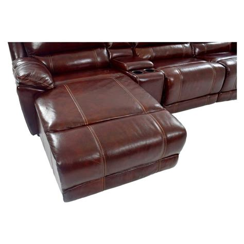 Leather Motion Sofa Theodore Burgundy Power Motion Leather Sofa W Left Chaise El Dorado Furniture