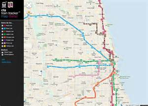 Chicago Public Transportation Map by Cta Train Lines Map Bing Images