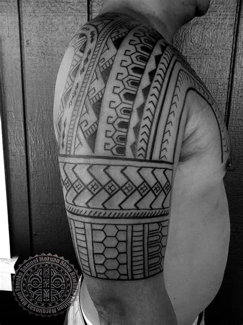 half sleeve amazing filipino hawaiian flag symbols on back