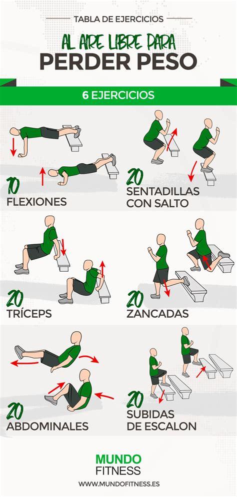 plan de ejercicios para adelgazar en casa rutina de ejercicios al aire libre para perder peso