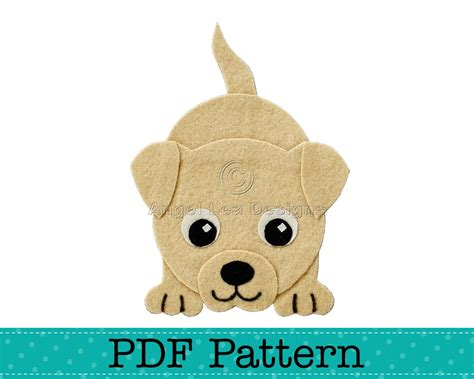 puppy dog applique template diy children girl boy pdf