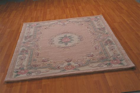 Ebay Rugs by Wool Aubusson Rug Fawn In Various Sizes Ebay